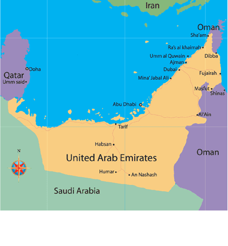 Maps Update 627567 Map of Uae and Neighbouring Countries – Abu Dhabi Country Map
